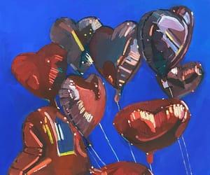 art, balloon, and heart image