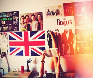 the beatles, green day, and room image