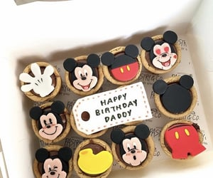 chocolate, mickey mouse, and pie image