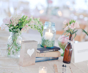 arrangements, books, and candles image