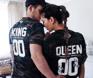 couple, king queen shirts, and couples image