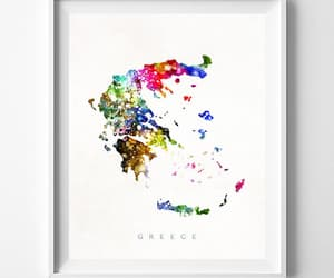 etsy, Greece, and wall art image