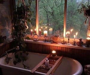 candle, bath, and bathroom image