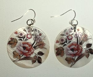 antique, clothes, and earrings image