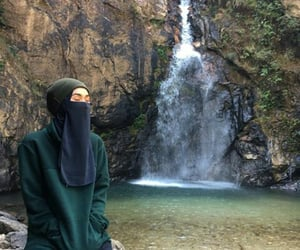 adventure, hijab, and nature image