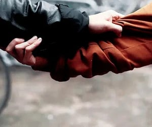 couple, hold on, and holding hands image
