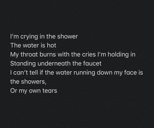 crying, me, and shower image