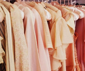 pink, clothes, and closet image