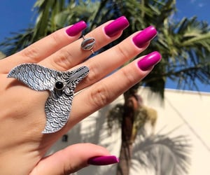 anel, nails, and pink image