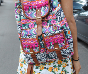 backpack, aztec, and bag image