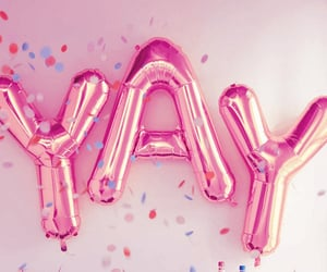 aesthetic, balloons, and pink image