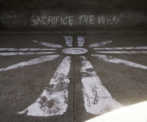 message, sacrifice, and weak image