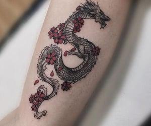 black, dragon, and tattoo image
