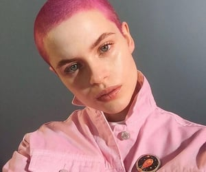 girl, indie, and pink image