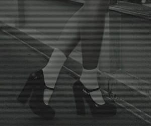 boots, grey, and retro image