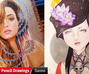 art, color pencil, and color pencil drawings image