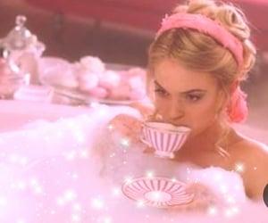 pink, bath, and tea image