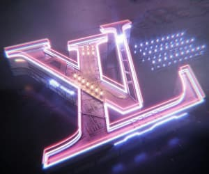 Louis Vuitton, aesthetic, and neon image