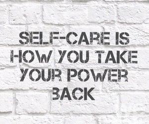 self love, self care, and power image