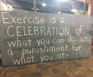 exercise, quote, and poem image