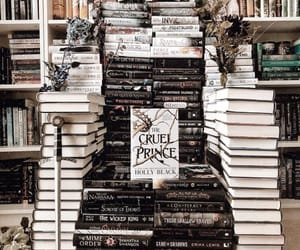 book, throne, and books image
