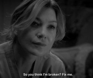 broken, grey's anatomy, and quote image