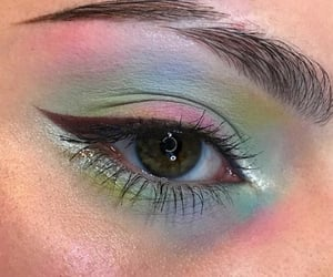makeup, eyes, and green image