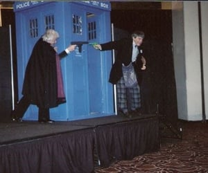 doctor who, jon pertwee, and patrick troughton image