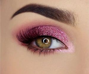 makeup, fashion, and eyes image