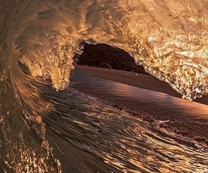 wave, beach, and ocean image