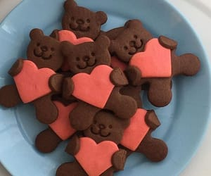 love, bear, and food image