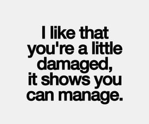 quotes, damaged, and manage image