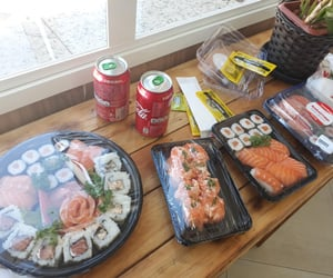 delicius, japanese food, and sushi image