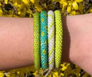bracelets, green, and refreshing image