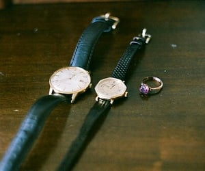 ring, watch, and vintage image