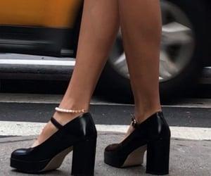 black chunky heels image