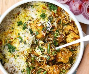 food, indian food, and rice image