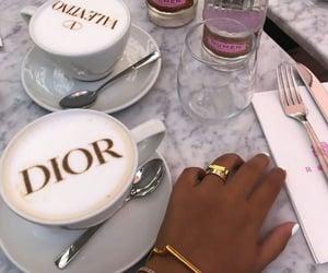 dior, coffee, and food image