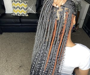 black girl, braid, and braids image