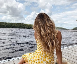 hairstyle, relax, and long hair image