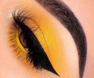 makeup, eyelashes, and eyes image