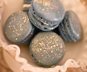 dessert, macaroons, and food image