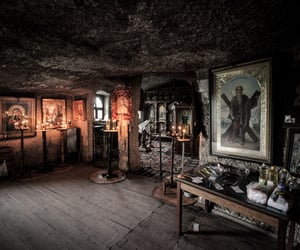 aesthetic, cave, and church image
