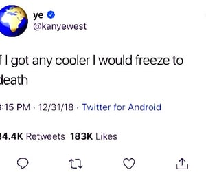 cool, ice cold, and kanye west image