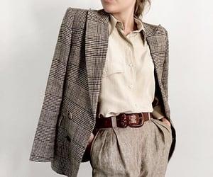beige, belt, and blazer image