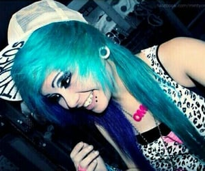 adorable, blue hair, and scene image
