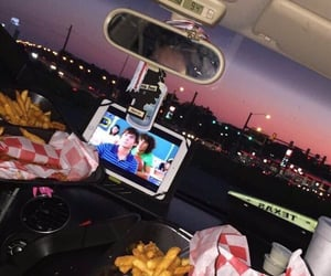 date, food, and love image