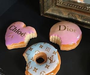 donuts, dior, and food image