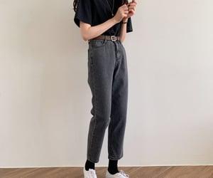 asian, black, and fashion image