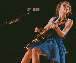 Taylor Swift, guitar, and speak now image